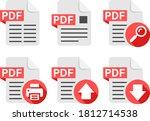 pdf file document icon symbol...   Shutterstock .eps vector #1812714538