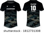 camouflage sports t shirt... | Shutterstock .eps vector #1812731308