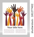happy hands with copy space.  | Shutterstock .eps vector #181277402