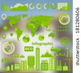 flat ui design eco city...