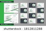 2021 desk calendar template... | Shutterstock .eps vector #1812811288