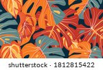 tropical forest seamless... | Shutterstock .eps vector #1812815422