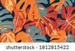 tropical forest seamless... | Shutterstock .eps vector #1812815422