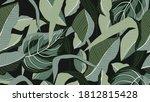 tropical forest seamless... | Shutterstock .eps vector #1812815428