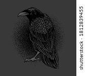 Dark Evil Raven For Halloween...