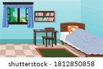 empty interior of the indian hut | Shutterstock .eps vector #1812850858