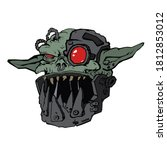 fantastic evil orc with... | Shutterstock .eps vector #1812853012