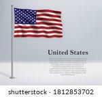 Waving Flag Of United States On ...
