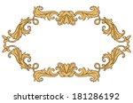 vintage ornament frame in retro ... | Shutterstock .eps vector #181286192