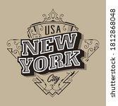 new york typography vintage... | Shutterstock .eps vector #1812868048