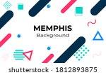 vector white memphis background ... | Shutterstock .eps vector #1812893875