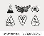 halloween scary occult... | Shutterstock .eps vector #1812903142