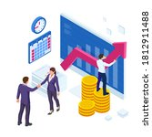 isometric business to business... | Shutterstock . vector #1812911488