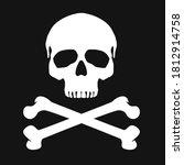 vintage monochrome human skull... | Shutterstock .eps vector #1812914758