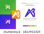 abstract creative letter ab...