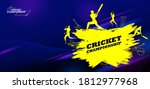 illustration of batsman player... | Shutterstock .eps vector #1812977968