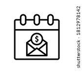 paycheck  calendar  letter icon....