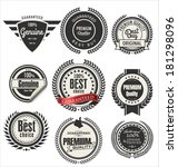 vintage styled premium quality... | Shutterstock .eps vector #181298096
