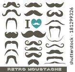 moustaches set. design elements. | Shutterstock .eps vector #181299326