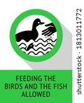 feeding birds and fish allowed  ... | Shutterstock .eps vector #1813011772