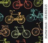 Vintage Bicycle  Colorful...