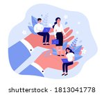 employees care concept. giant... | Shutterstock .eps vector #1813041778