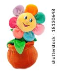 Soft Flower Toy Isolated On...