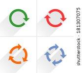 4 color arrow rotation  loop...