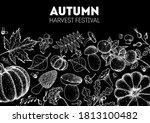 harvest festival. hello autumn... | Shutterstock .eps vector #1813100482
