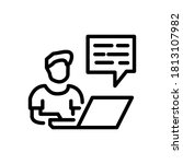 work from home line icon vector ... | Shutterstock .eps vector #1813107982
