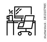 freelance worker  work from... | Shutterstock .eps vector #1813107985