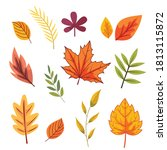 autumn leaves set collections ... | Shutterstock .eps vector #1813115872