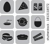 set of 9 restaurant related... | Shutterstock .eps vector #1813118572