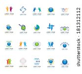 abstract icons set   isolated... | Shutterstock .eps vector #181312112