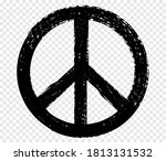 grunge peace sign.dirty peace...   Shutterstock .eps vector #1813131532