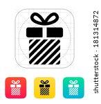 striped gift box icon.
