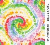 circle tie dye swirl. vector... | Shutterstock .eps vector #1813157362