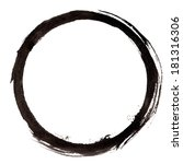 round circle painted frame. ink ... | Shutterstock . vector #181316306