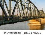 Iron Railroad Bridge Over The...