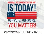 national voter registration day.... | Shutterstock .eps vector #1813171618