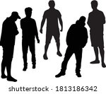 silhouettes of a man  concept... | Shutterstock .eps vector #1813186342