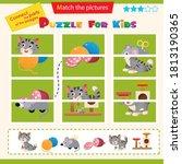 matching game for children.... | Shutterstock .eps vector #1813190365