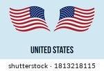 usa flag state symbol isolated...