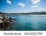 The Bulgarian Black Sea. Blue...