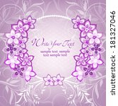 wedding card or invitation with ... | Shutterstock .eps vector #181327046