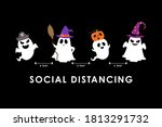 social distancing  covid 19 ... | Shutterstock .eps vector #1813291732