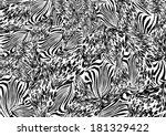 mixed animal print | Shutterstock . vector #181329422
