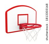 Basketball Hoop Isolated. 3d...