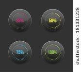 set of round progress bar...