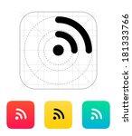 radio signal wi fi icon....
